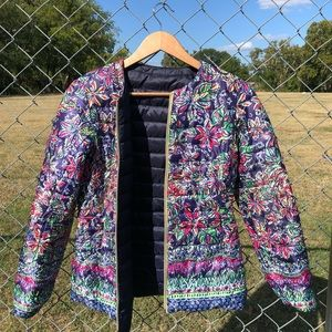 NWOT XS LILLY PULITZER REVERSIBLE PUFFER JACKET